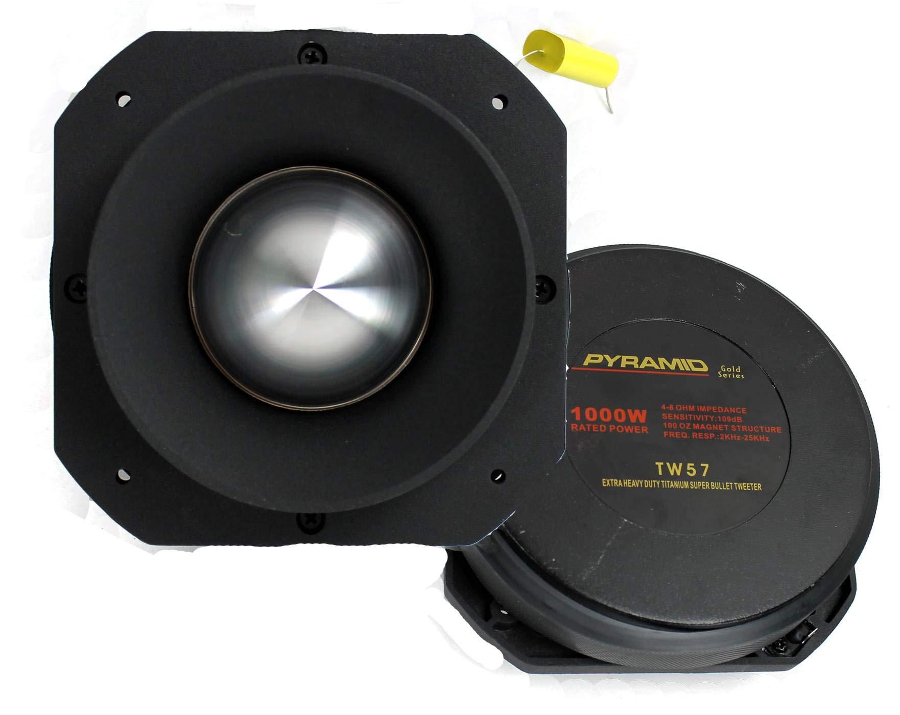 """Pyramid PRO TW57 3"""" 4000W Titanium Car Audio Dome Bullet Super Tweeters"""