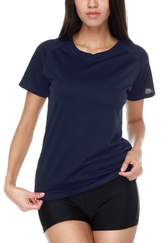 Vegatos Women Short Sleeve Swim Shirt UV Protection Workout Shirt Athletic Top by Vegatos (Image #6)