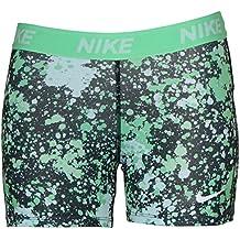 NIKE Big Girls' (7-16) Victory allover Print Training Shorts-Neon Green/Black