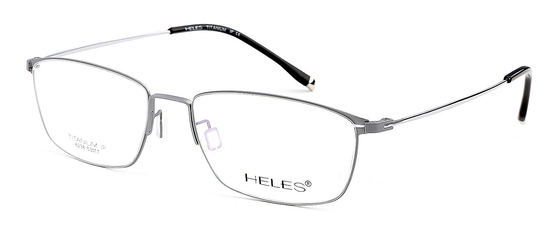 Heles Women's Beautiful Pure Tianium Full Rim Glasses Optical Frame Eyeglasses, very light in weight, 53-17-140