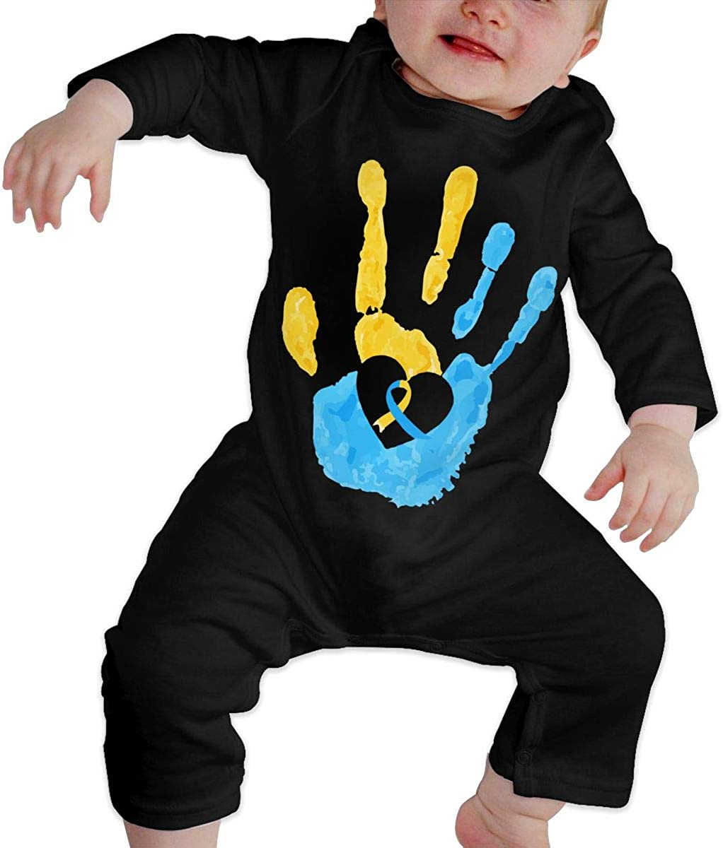 Baby Girls Romper Jumpsuit Down Syndrome Awareness Organic One-Piece Bodysuits Coverall Outfits