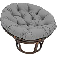 Round Papasan Cushion, Non-Slip Washable Overstuffed Hanging Chair Pad for Indoor Outdoor(Not Included Chair),Gray…