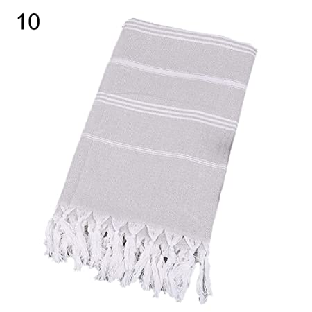 GSYClbf 100x180cm Stripe Linen Bath Towel Scarf Shawl Shower ...