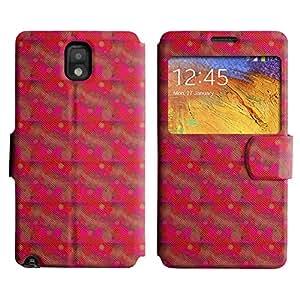 LEOCASE círculos fresco Funda Carcasa Cuero Tapa Case Para Samsung Galaxy Note 3 N9000 No.1005515