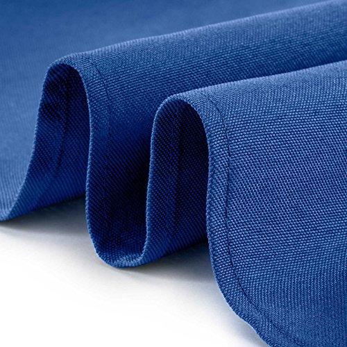 Lann's Linens - 1 Dozen 17'' Cloth Dinner Table Napkins - Machine Washable Restaurant/Wedding/Hotel Quality Polyester Fabric - Royal Blue by Lann's Linens (Image #2)'