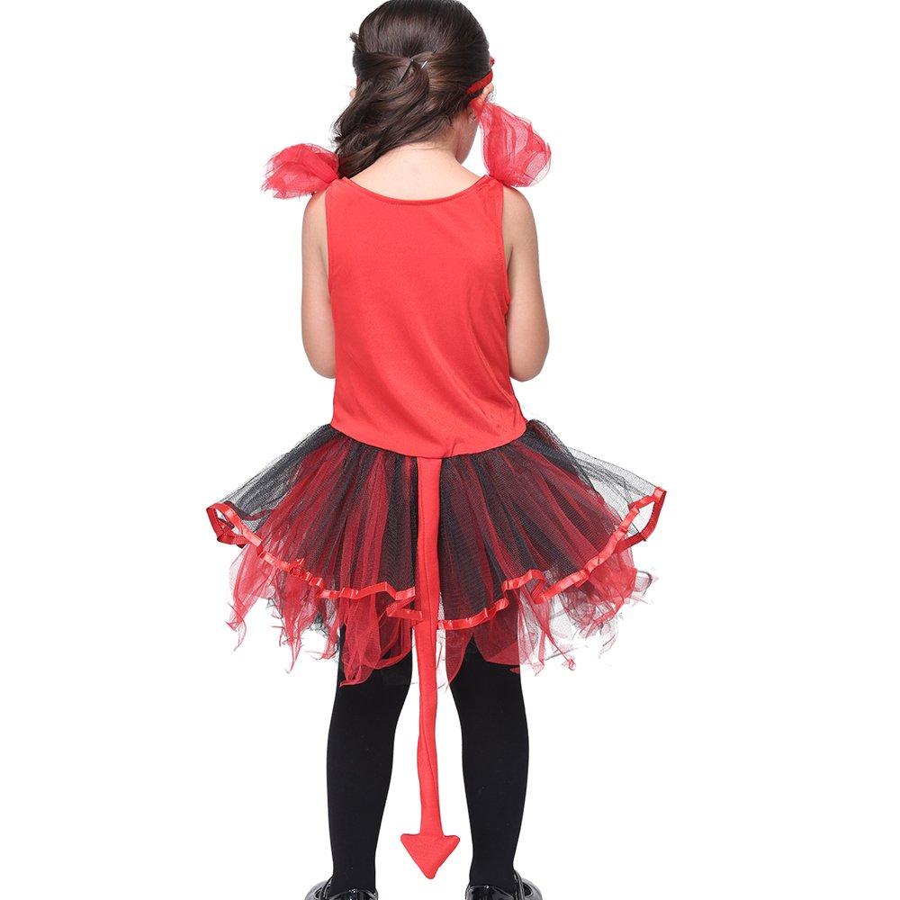 Girl's Halloween Cosplay Costume Suit Children's Dancewear Dancing Dress (Large) by KeepMoving (Image #5)