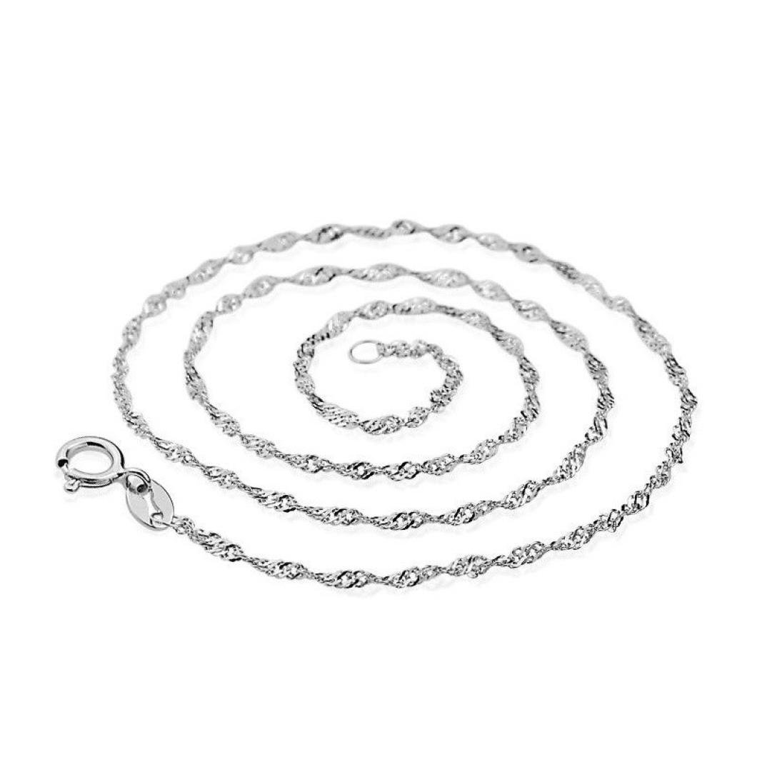 Fashion Women Necklace Jewelry Wave Chain of High-End Vintage Silver Jewelry Necklace Bracelet 45CM