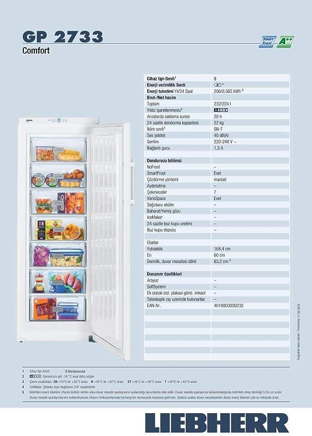 Liebherr GP 2733 Comfort - Congelador Vertical Gp2733 Con ...