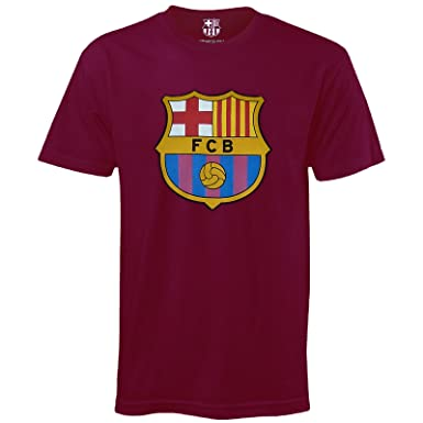 FC Barcelona Official Football Gift Kids Crest T-Shirt  Amazon.co.uk ... b00517b2ae9