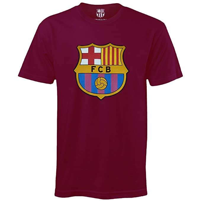 FC Barcelona Official Football Soccer Gift Kids Crest T-Shirt Navy 6-7 Years