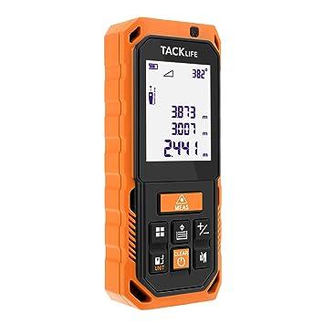 Tacklife -S2- 80m Telémetro láser Medidor de distancia láser, medición de ángulo,
