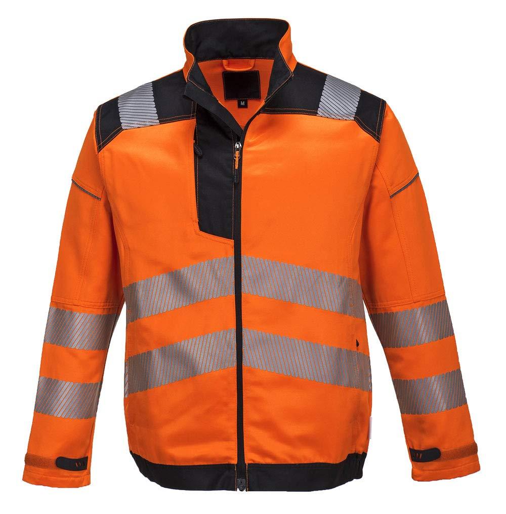 Orange Portwest T500ORRXXL Vision Hi-Vis Work Jacket 2X-Large