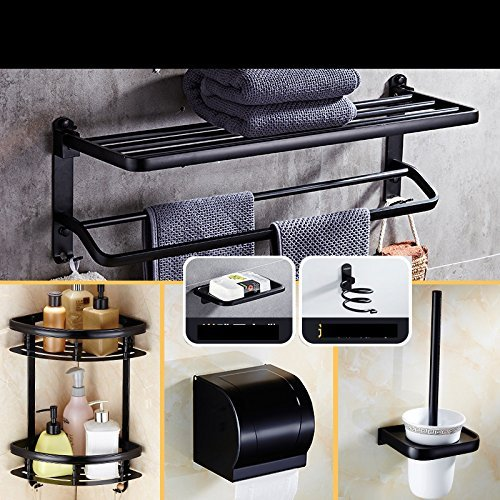 401 Handle - The Space Of Free Strikes Dry-Towels Bathroom Bath In Black Aluminum Batteries Paper Towel Toilet Brush Equipment Handle,Ch-401-2 Sleeve Four Parts