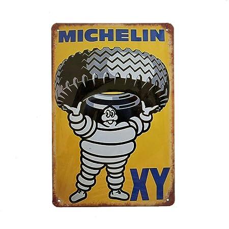 Michelin Tyres Retro Vintage Estaño Cartel, Pared Metal ...