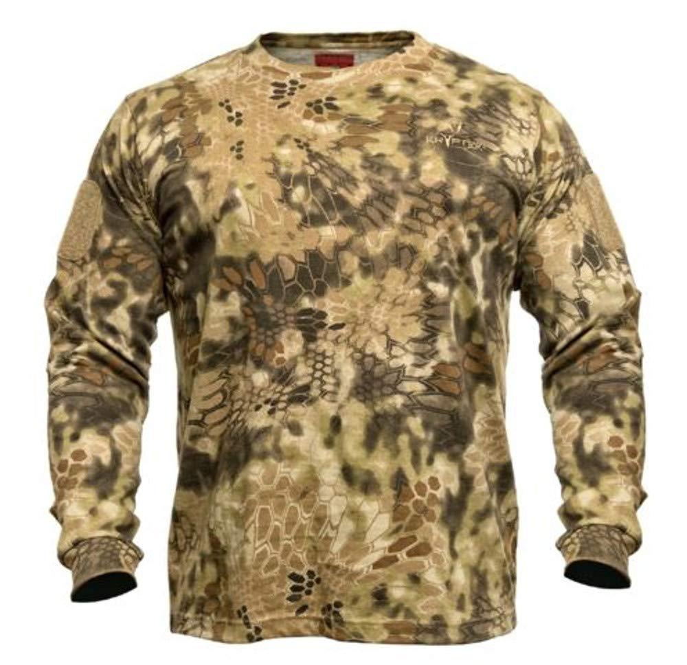 Kryptek Stalker Long Sleeve Camo Hunting Shirt (Stalker Collection), Mandrake, L