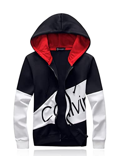 ced6ea40814 Wenliu Mens Hoodies Suits Printing Tracksuit Jogging Suits Letter Print  Slim Fit Sports Casual at Amazon Men s Clothing store