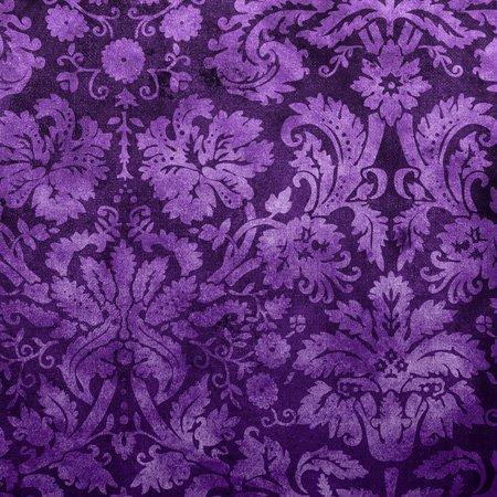 Decorative Vintage Floral Wallpaper Purple