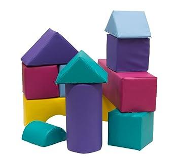 Bausteine-Set 13-teilig aus Schaumstoff mit Kunstlederbezug zum ...