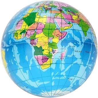 Stress Relief Toy World Map Foam Ball Atlas Globe Palm Ball Planet Earth Ball