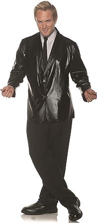 Sequin Jacket Black Adult Costume Men/'s Fancy Dress Up Underwraps