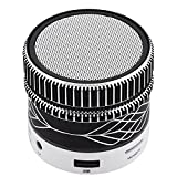 Mini Bluetooth Speaker Stereo Wireless Speaker Handsfree Music Player Desktop Speaker for Android Smartphones iPhone 8 X 7 6 6S Plus 5 5S Motorola G C X Nexus Samsung Note 8 5 4 Laptops Black