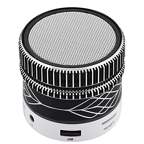 Mini Bluetooth Speaker Stereo Wireless Speaker Handsfree Music Player Desktop Speaker for Android Smartphones iPhone 8 X 7 6 6S Plus 5 5S Motorola G C X Nexus Samsung Note 8 5 4 Laptops Black by TopePop