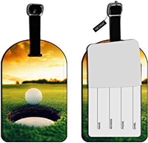 Nicokee Cool Golf Ball Hole Leather Luggage Tags Travel Suitcase Bag ID Labels Travel Accessories Baggage Name Tags
