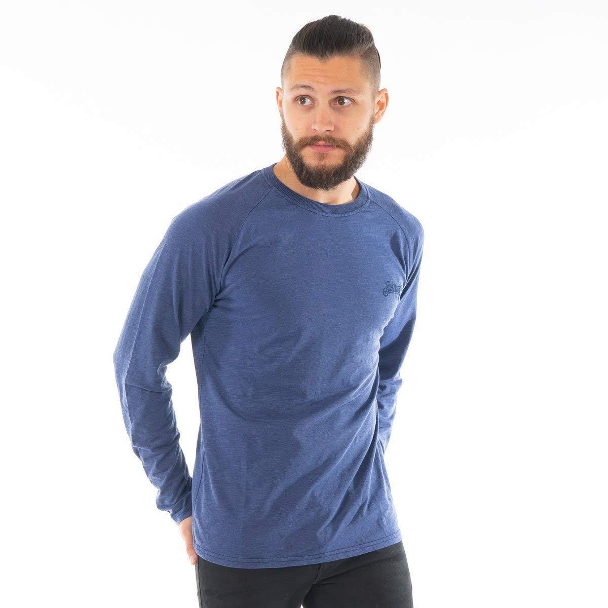 Indo Saltrock Mens Long Sleeve T-Shirt Blue