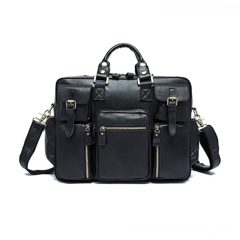旅行バッグ スタイリッシュなシンプルレザー大容量ポータブルトラベルバッグメンズ多目的トラベルダッフルバッグ スポーツバッグ トラベルバッグ (色 : 褐色)  褐色 B07P6XC169