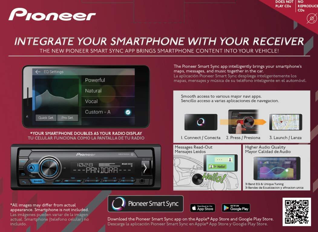 Pioneer MXT- S3166BT Digital Media Receiver + (4) 6.5'' 2 Way Speaker Bundle with Pandora Premium Trial by PIONEER (Image #5)