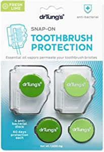 Dr Tung's Snap On Toothbrush Protector 2 Sanitizers, 2 Count