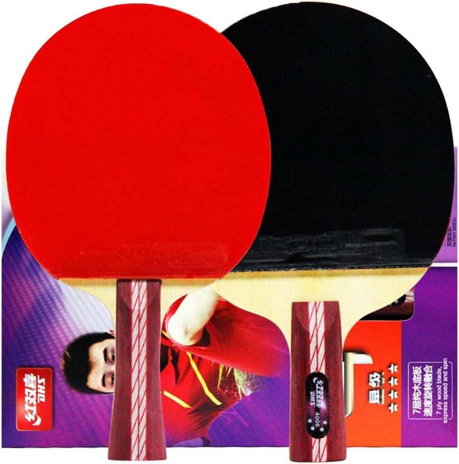 JWD HOME Paleta De Ping Pong Juego De 2 Raquetas De Tenis De Mesa, Conveniente para Jugadores De Alto Nivel Intermedios