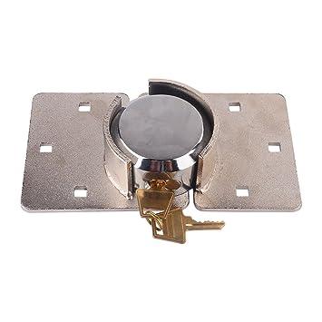 Candado de seguridad para puerta, 73 mm de acero, redondo, sin grillete y