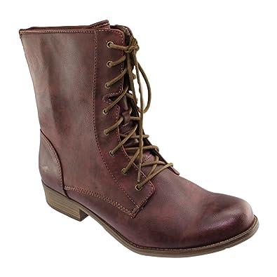 Sale Damen Boots - Braun Schuhe in Übergrößen, Größe:44 Mustang