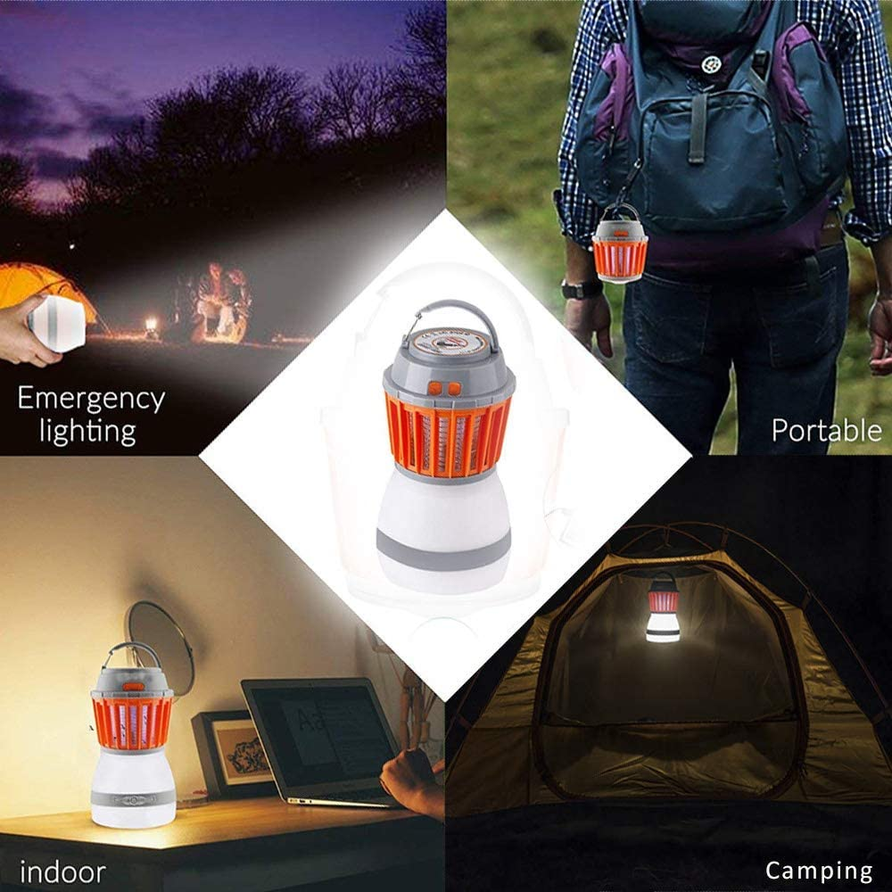 Bedroom USB Power Supply Mosquito Killer Uv Light Induces Mosquito Lamp Light Sensor Control Switch Small Night Light Suitable for Family Outdoor Camping
