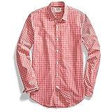 Goodthreads Men's Standard-Fit Long-Sleeve Summertime Gingham Shirt, Red/White, XX-Large