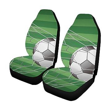 Funda de asiento de coche para hombres Balón de fútbol en portería ...