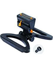 Melnor 65003-AMZ MiniMax Turbo Oscillating Sprinkler with QuickConnect Product Adapter Watering Set, Black, Yellow