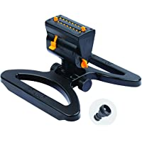 Melnor -AMZ MiniMax Turbo Oscillating Sprinkler on Step Spike with QuickConnect Product Adapter Set