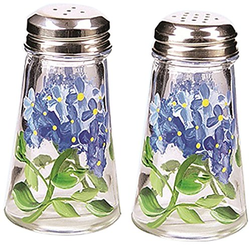 Grant Howard Hand Painted Tapered Salt and Pepper Shaker Set, Blue Hydrangeas, - Pepper Blue And Salt