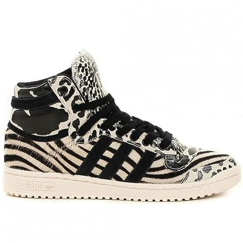 check out 86db8 7d27f adidas Top Ten Hi W (Bianco Nero)  Amazon.it  Scarpe e borse