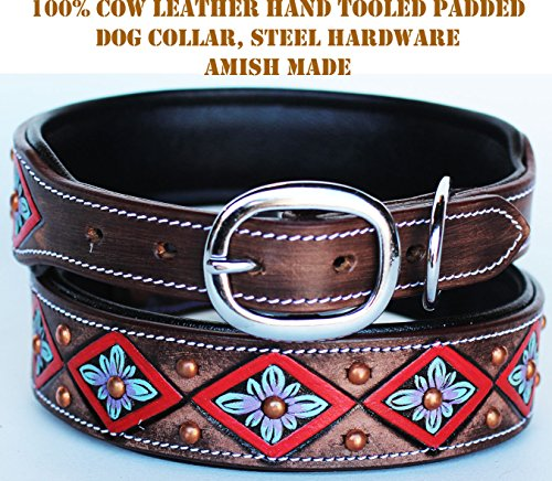 PRORIDER Small 13''- 17'' Rhinestone Dog Puppy Collar Crystal Cow Leather 6020RD