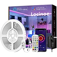 Smart LED Light Strip 32ft - Locinoe 10m WiFi LED Light Strip Compatible with Alexa,Google Home Controlled by Smart APP…