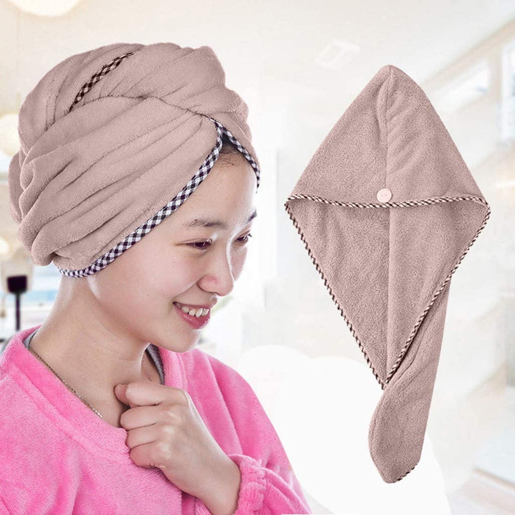 Nesee Quick Dry Towel for Hair, Quick-Drying Towel Dry Hair Cap Absorbent Cap Quick Dry Hair Cap Fast Hair Cap
