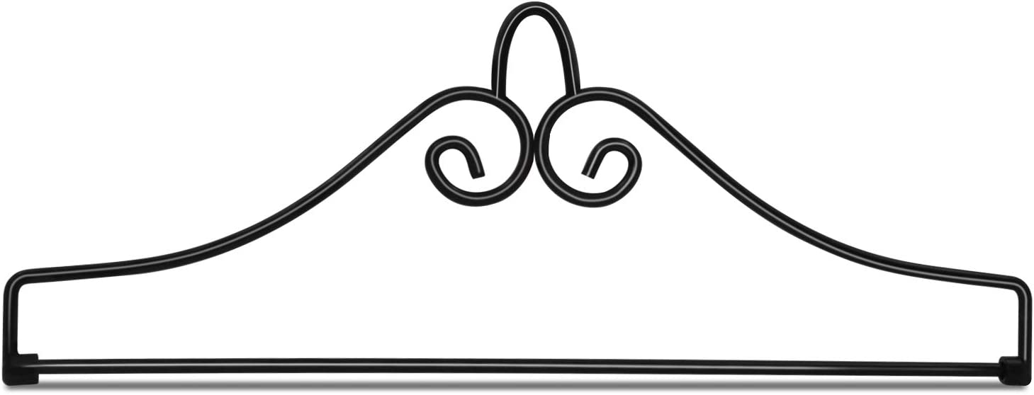 "Anley Wrought Iron Garden Flag Hanger - Garden Banner Holder Detached to Use - Rust Resistant & Black Matte Coating(Ideal for Flag/Banner with Width Smaller Than 13"")"