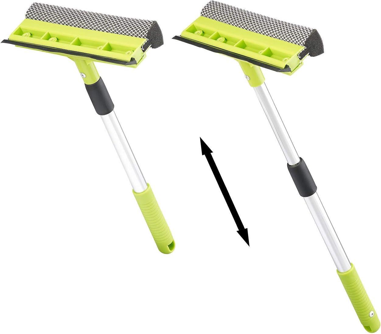 Raclette de sol avec manche extensible pour nettoyer les vitres Vert 139 cm