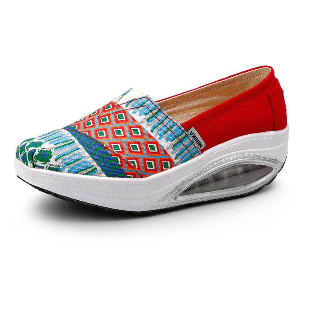 FangYOU1314 Pente : avec des Femmes gâteau Rouge, Paresseux Chaussures Air B01JRLKMAK Cushion Toile Shake Chaussures (Couleur : Rouge, Taille : 36 2/3 EU) Rouge 440e0c2 - conorscully.space
