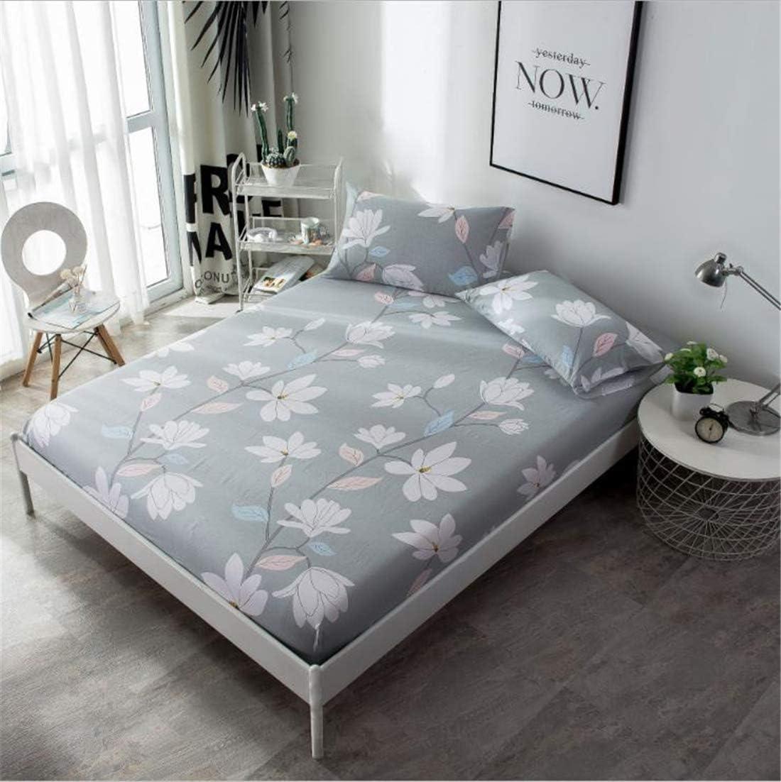 CHLCH Funda de colchón, Impermeable, Transpirable,Flor de algodón ...