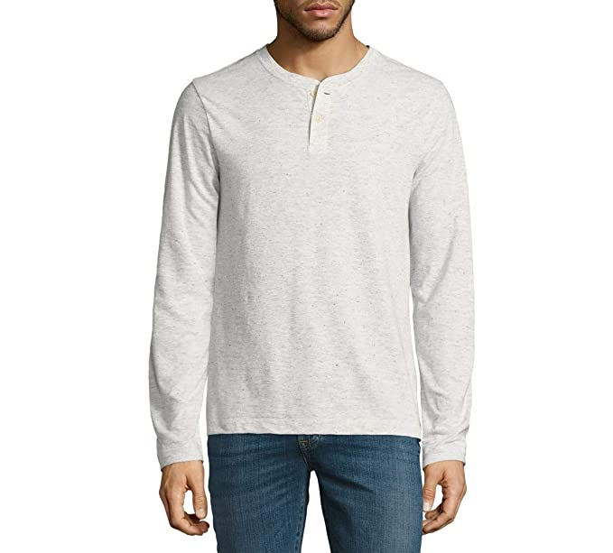 bab09af3b3b Men's Arizona Long Sleeve Henley Shirt (White Heather, Medium) at ...