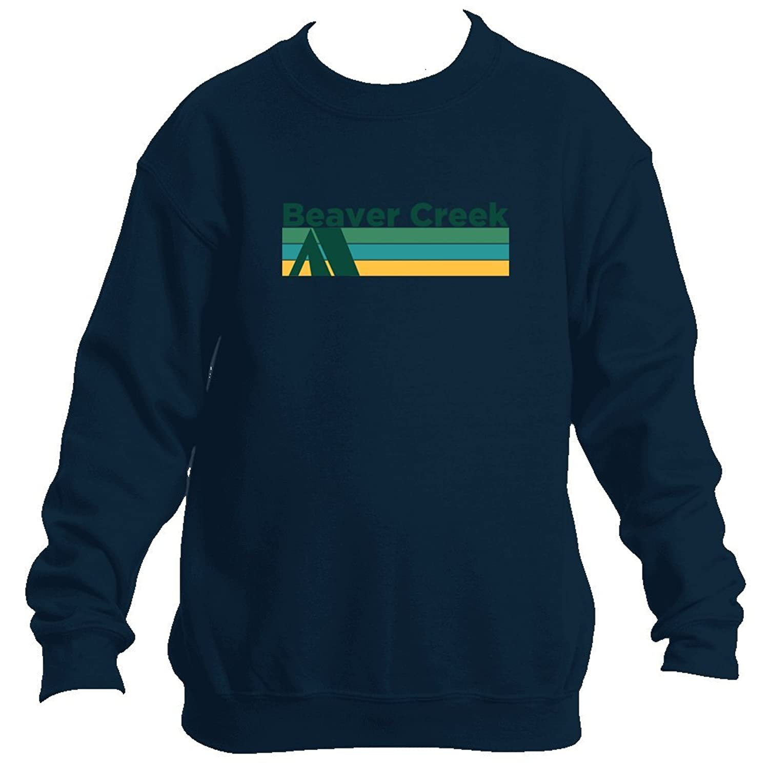 Hot Beaver Creek Retro Camping - Colorado Youth Fleece Crew Sweatshirt - Unisex